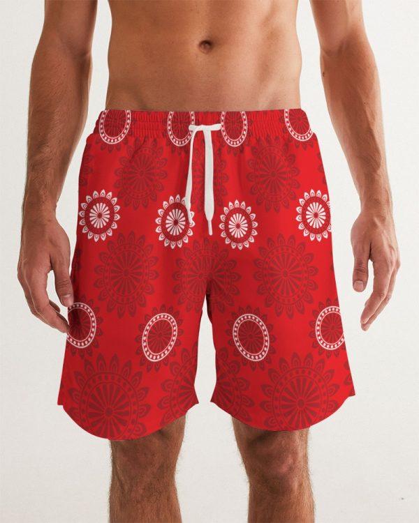 Men's Red Swim Trunks Rings