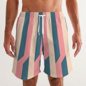 Men's Swim Trunks Stripes front close up