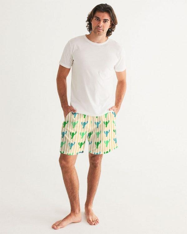 Men's Swim Trunks Cacti front model