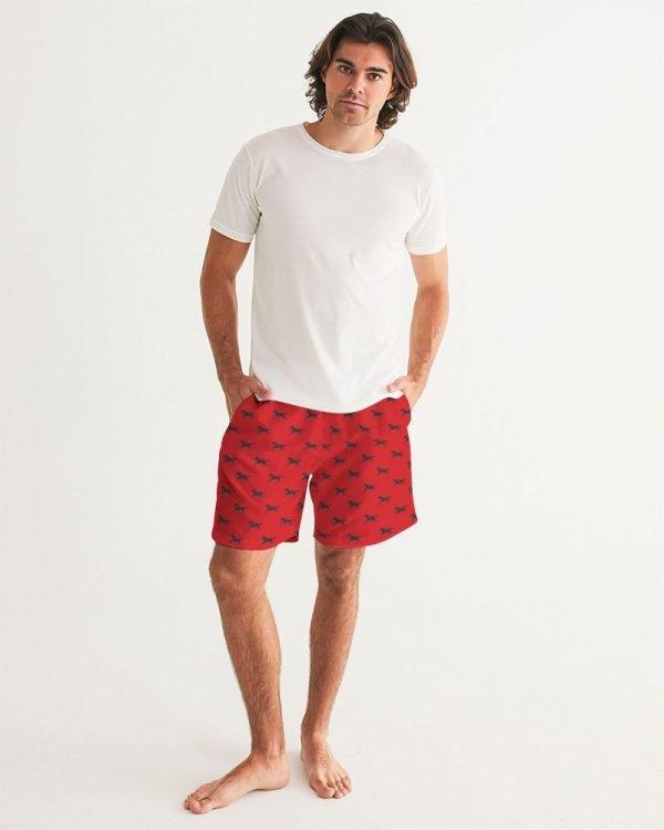 Men's Swim Trunks Black Horses front model