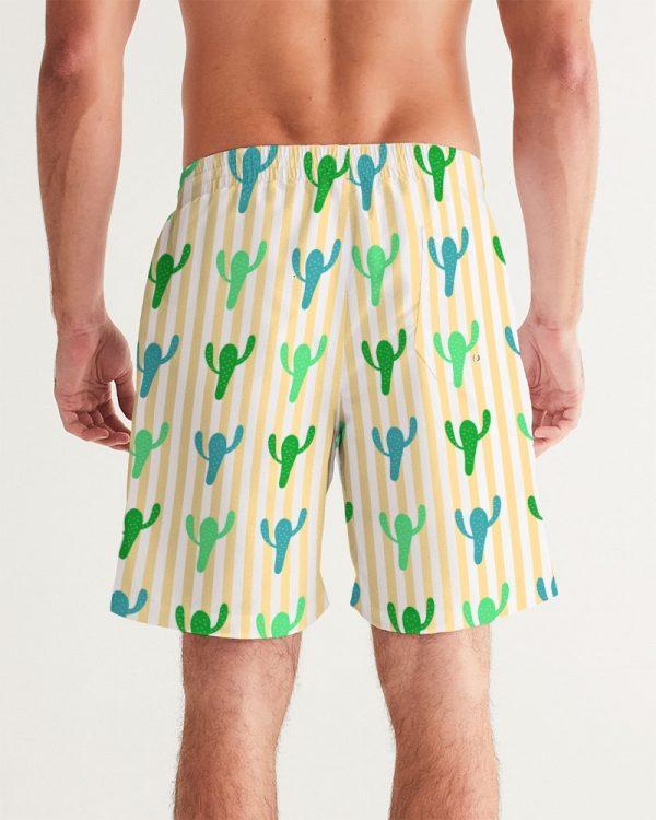 Men's Swim Trunks Cacti back model