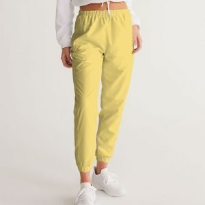 Women's Yellow Track Pants front model