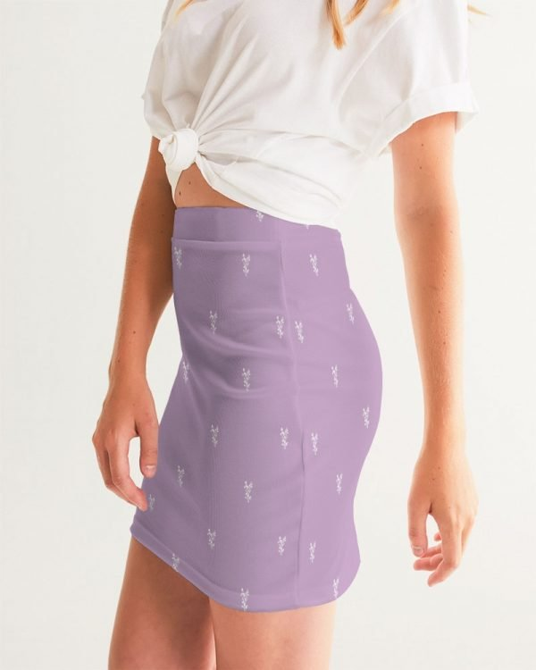Lilac Women's Mini Skirt side