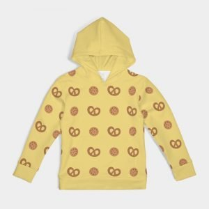 Yellow Kid's Hoodie Cookies front