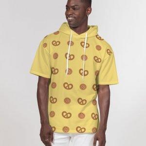 Men's Short Sleeve Hoodie Cookies front model