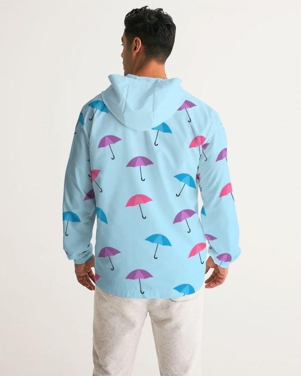 Men's Windbreaker Umbrellas back model