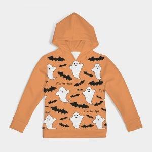 Kids Orange Halloween Hoodie I'm boo-tiful