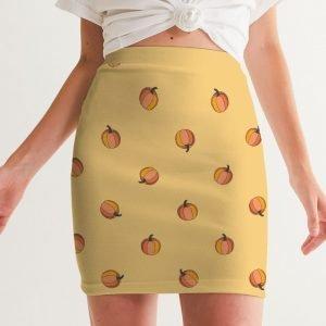 Women's Mini Skirt Pumpkins front close up