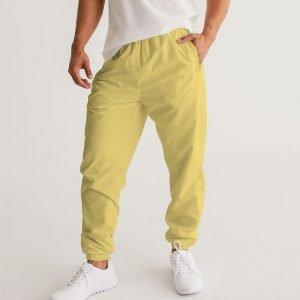 Men's Yellow Track Pants front model