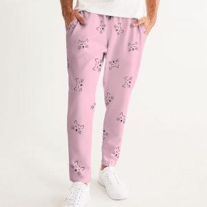 Pink Men's Joggers Dreamy Cat