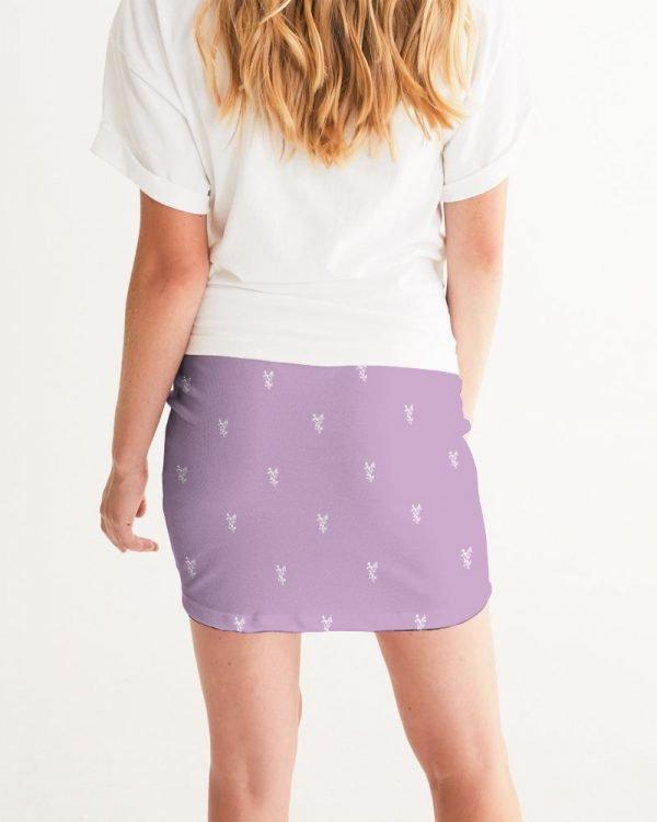 Lilac Women's Mini Skirt back