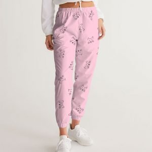 Women's Pink Track Pants Dreamy Cat front close up